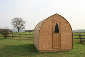 Glamping Hut Ocean View Windmill Gower